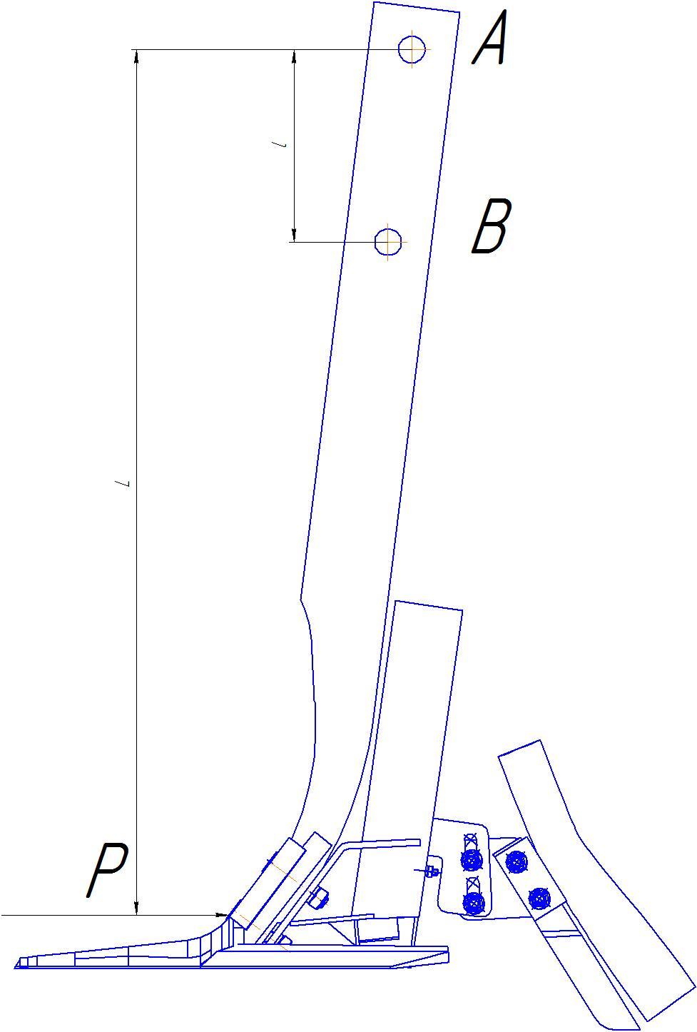 Схема крепления сошника