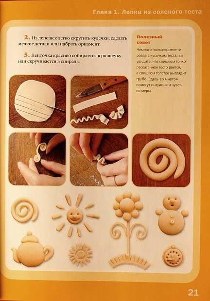 Соленое тесто рецепт с фото пошагово