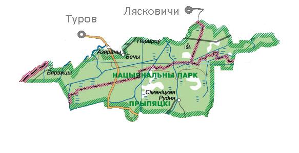 Карта национального парка